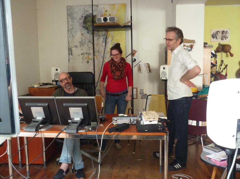 Peter Bräker, Sounddesign; Laura Endres, Tonschnitt und Peter Scherer, Komponist