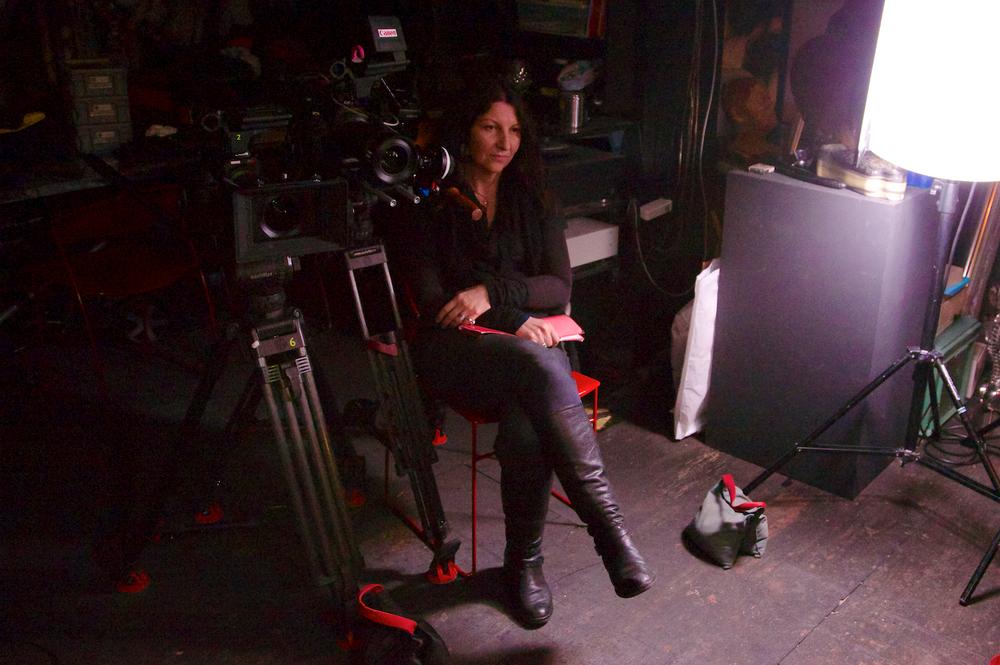 Belinda vor Interview mit Stanislav Grof
