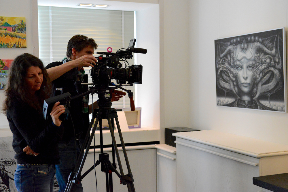 Belinda und Eric in der Galerie Crameri in Chur