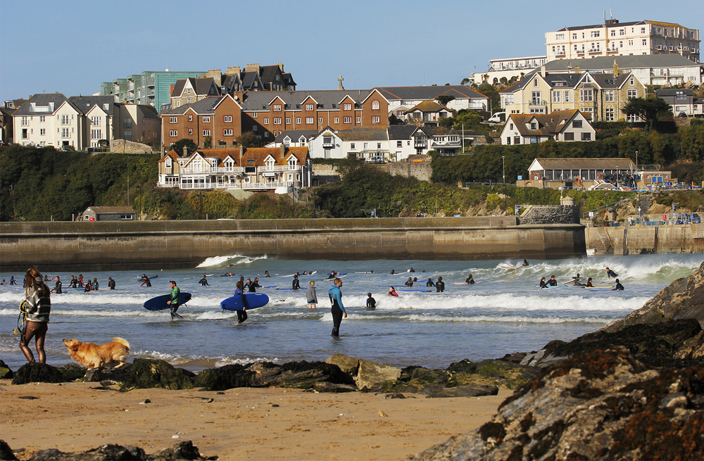 Newquay Bay was the only option for Surf Schools