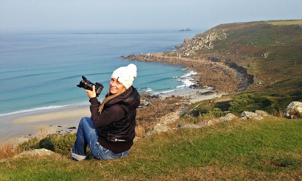 Setting up for a classic Cornish Wave shoot