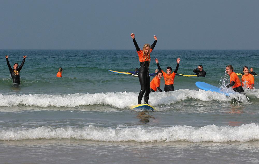 Group surf lessonnewquay