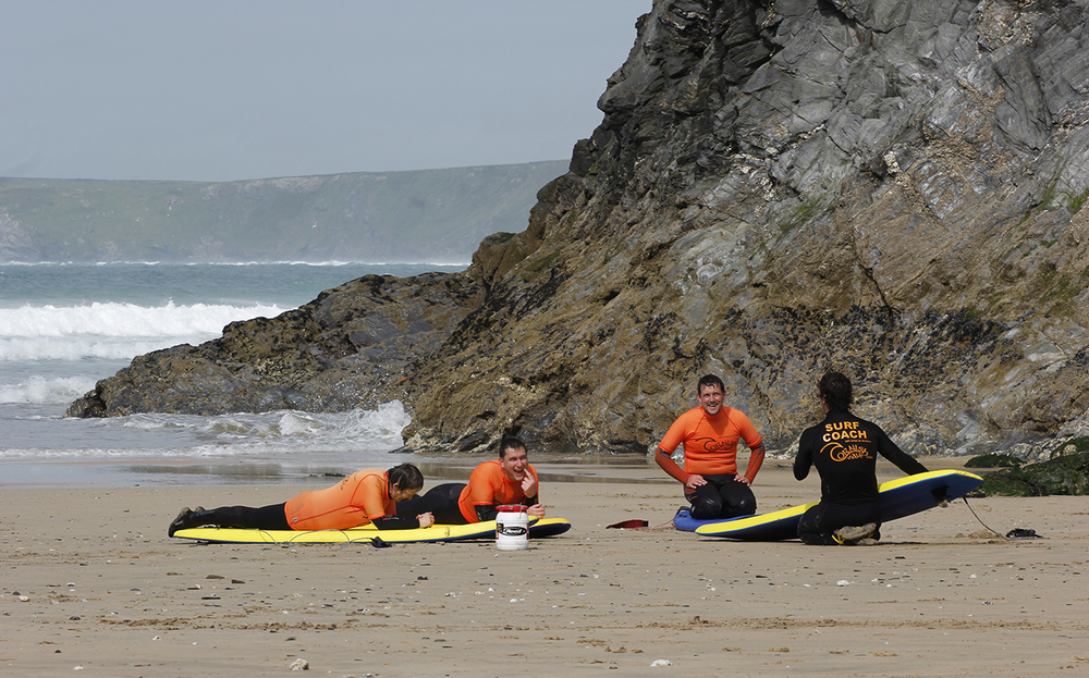 learn to surf beach theory, newquay