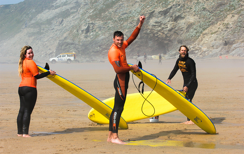 Surf lessons Watergate Bay
