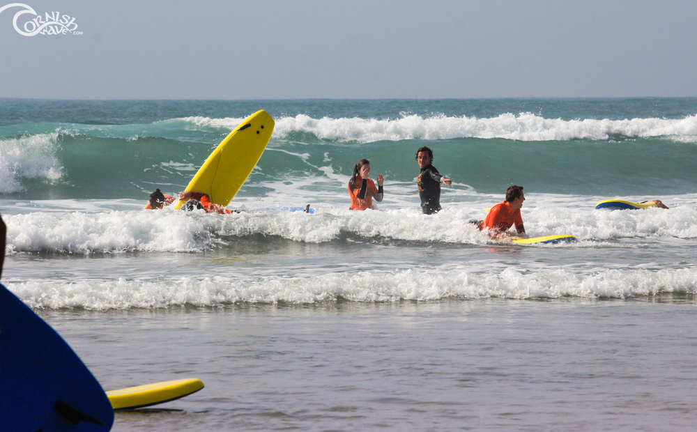 Surf lessons watergate bay, cornwall