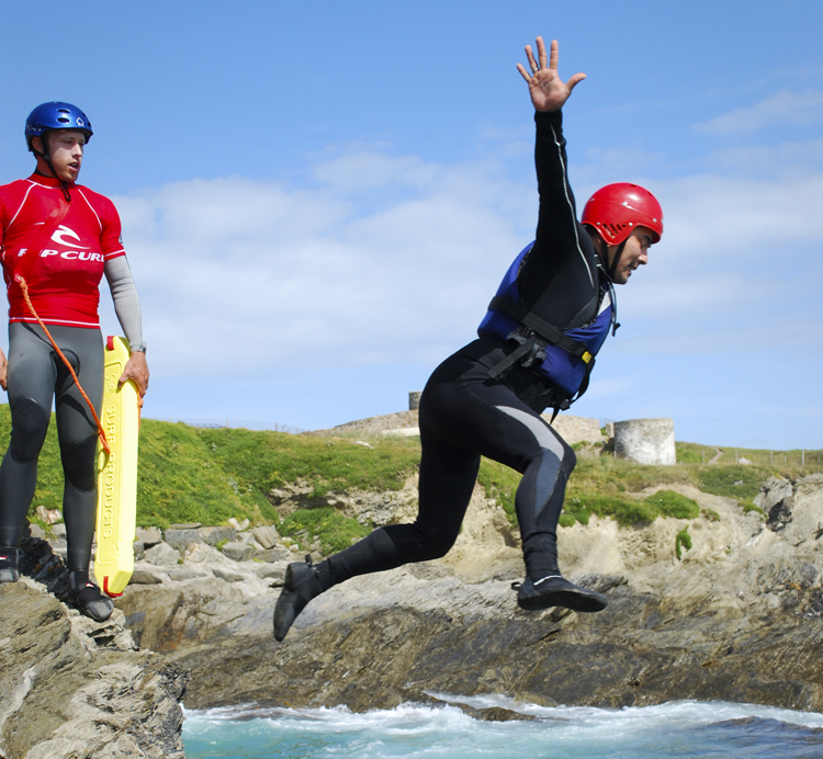 Coasteering builds confidence in your abiliites