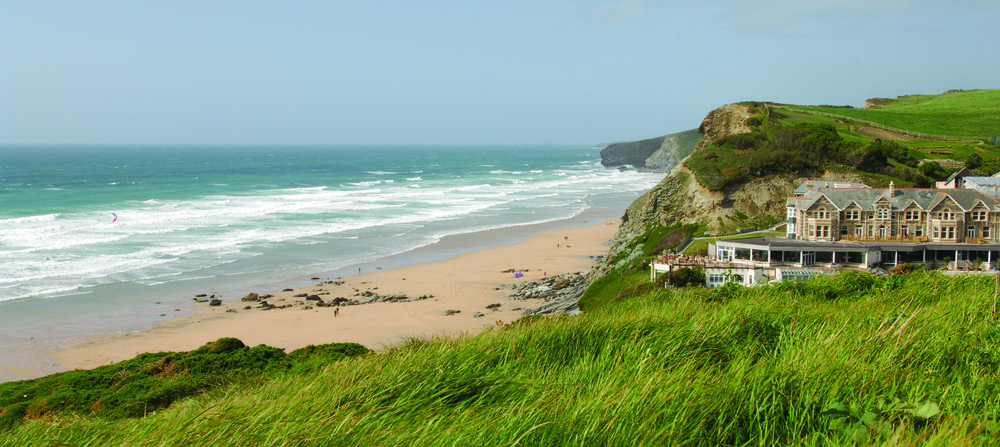 watergate bay hotel and beach, newquay, cornwall