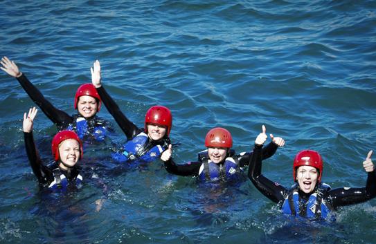 Coasteering for hen parties in newquay