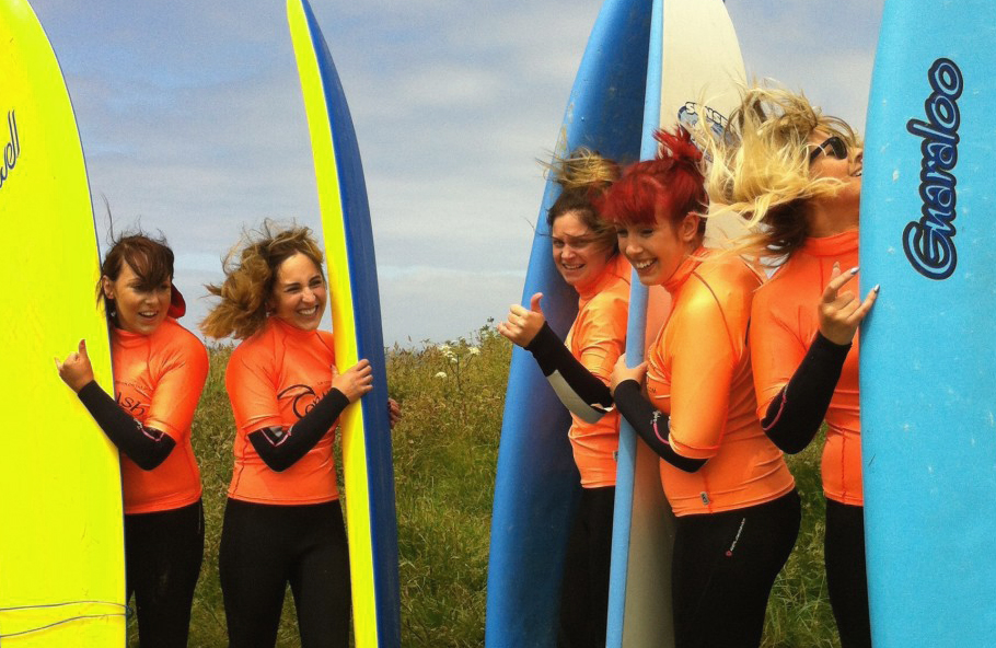 Surfing for Hen parties in newquay