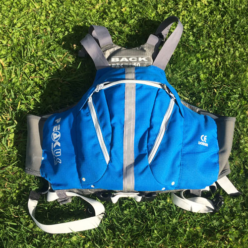 A buoyancy aid used for coasteering