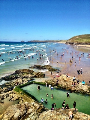 Summers Days at Perranporth beach
