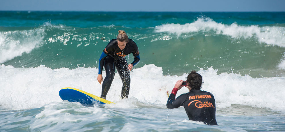 A Private SUrf Lesson in Newquay