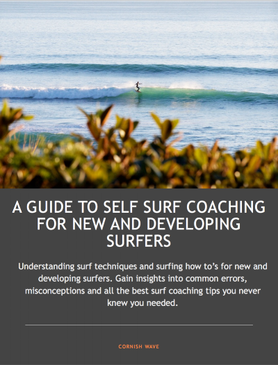 front cover for beginners guide to self surf coaching - surfer riding a wave