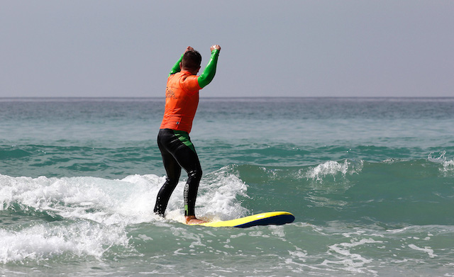 Stag Do Surfer Celebrates Success