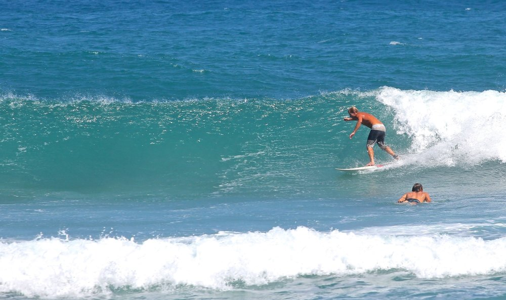 Surf coach Jey riding some Dominican Waves !!