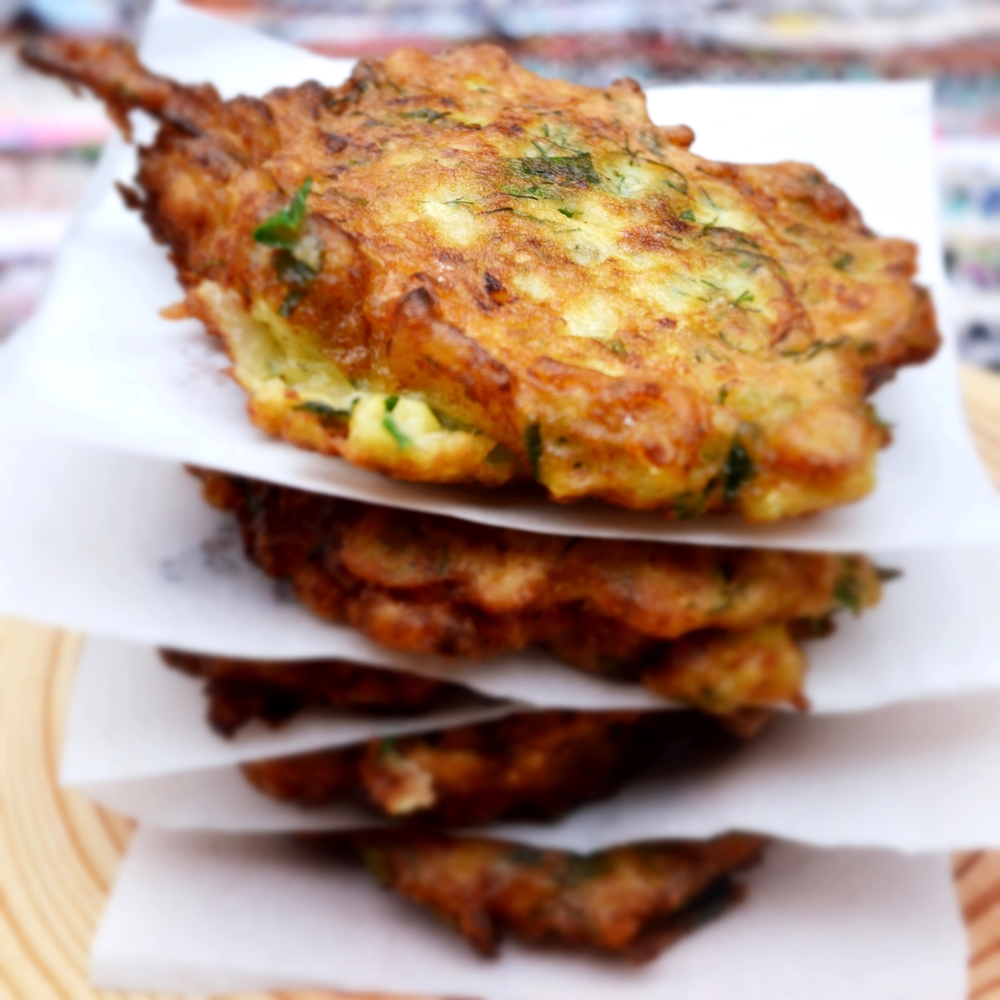 Zucchini Fritters   Vegetarian /contains eggs