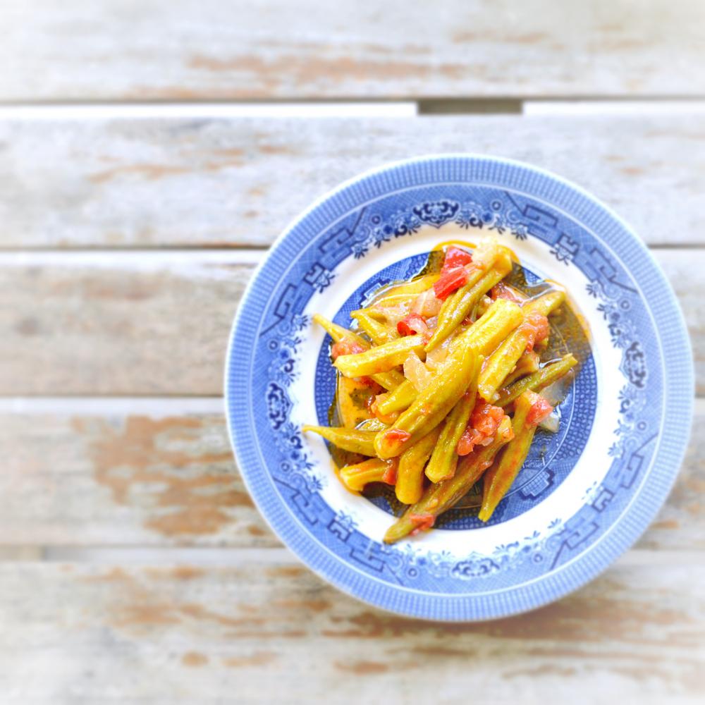 Okra in olive oil  Vegan / gluten free