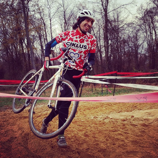 Marko, clad is his signature Croatian kit, relishes in the unique challenge cross brings.