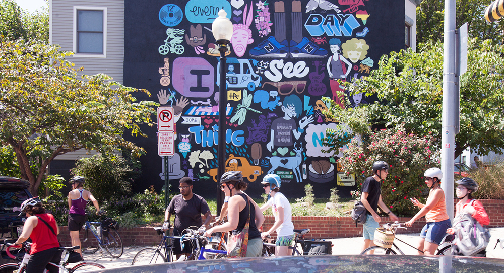 Adams Morgan has always been a favorite stop on our  Mural Tours.