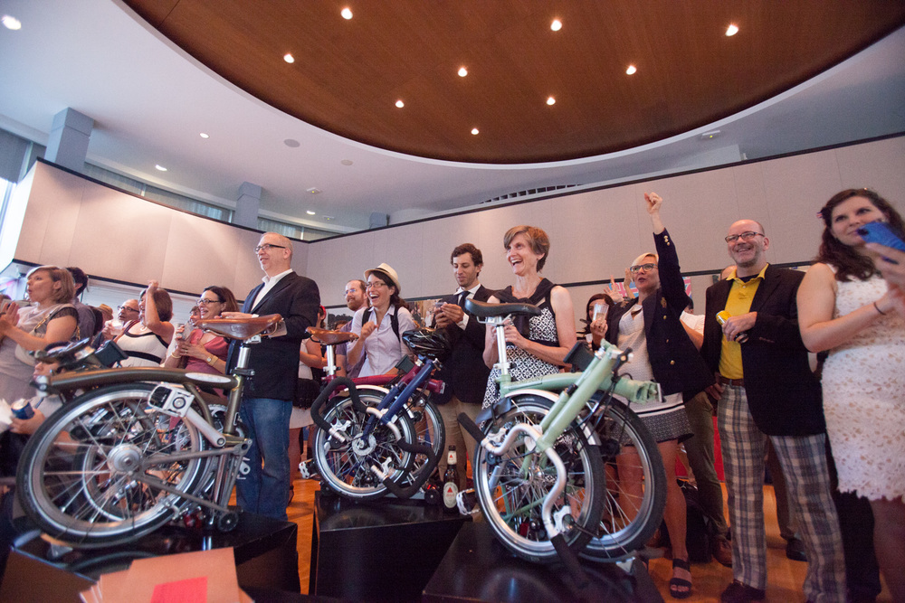 BicycleSPACE is the exclusive Washington-area dealer of the brilliant Brompton folding bicycle. U.S. Bromptoneers are seen here at a British Embassy reception during the  2014 Brompton U.S. Championship.