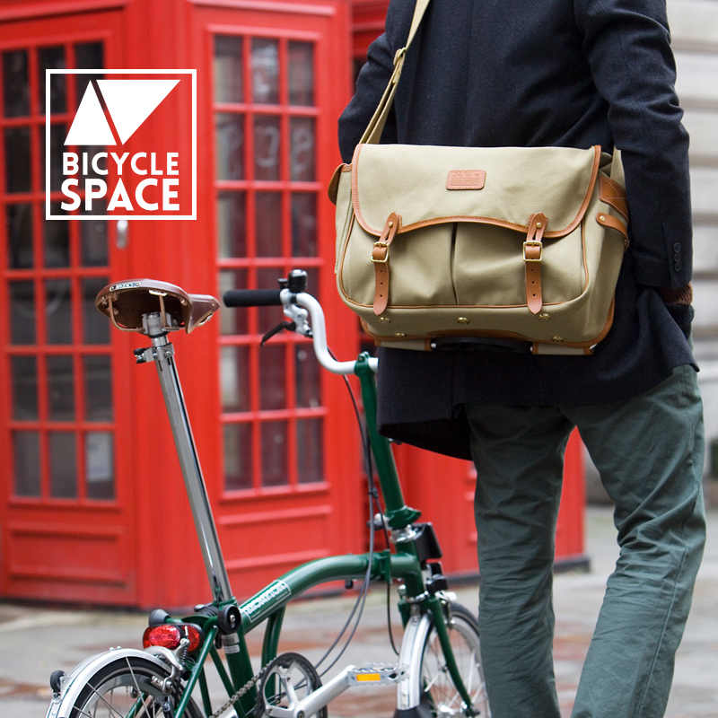 Let the games begin! A perfect accessory for the Brompton Urban Challenge, the Brompton Game Bag mounts directly on a Brompton and looks great on and off the bike.  Tough weather treated canvas, handmade in UK by the iconic luggage maker, Chapman.
