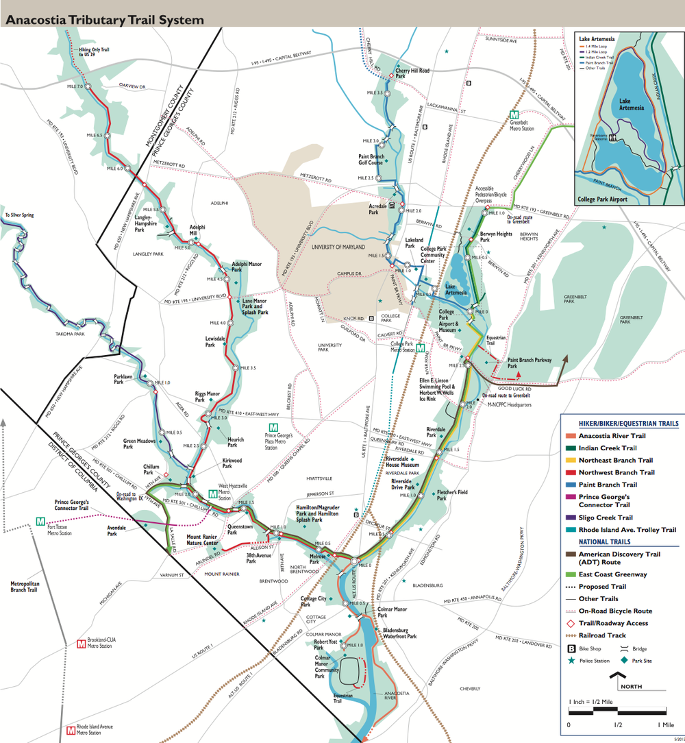 Anacostia Tributary Trail Map