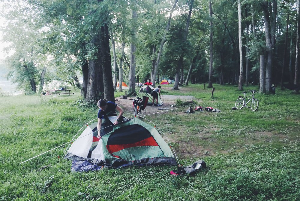 BicycleSPACE at the campside with All-City Cycles