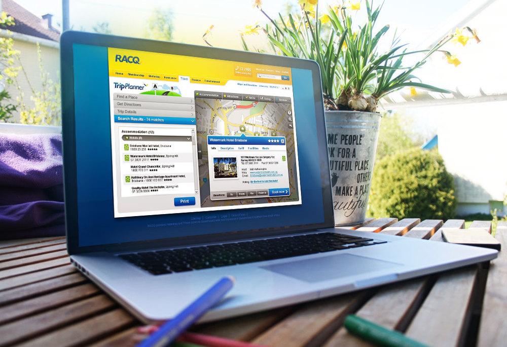 RACQ Trip Planner (web app)