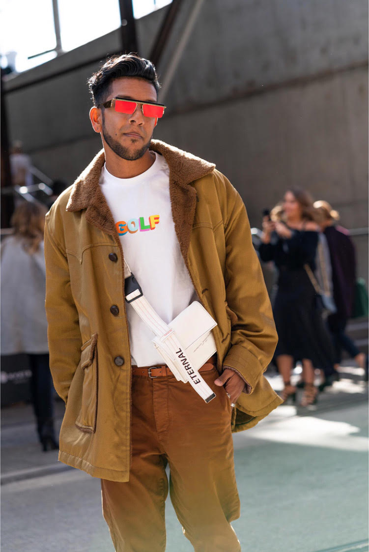 Wearing Adam Selman for Le Specs, Golf Wang, Cos    Shot by Raymond Cheng for Mercedes Benz Fashion Week Australia