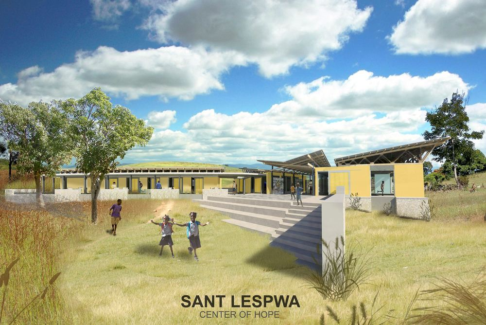Architectural rendering of Sant Lespwa in Haiti. (Courtesy of Rothschild Doyno Collaborative)