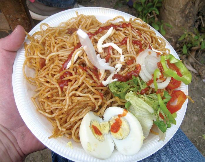 Haitian Spaghetti With Hot Dogs