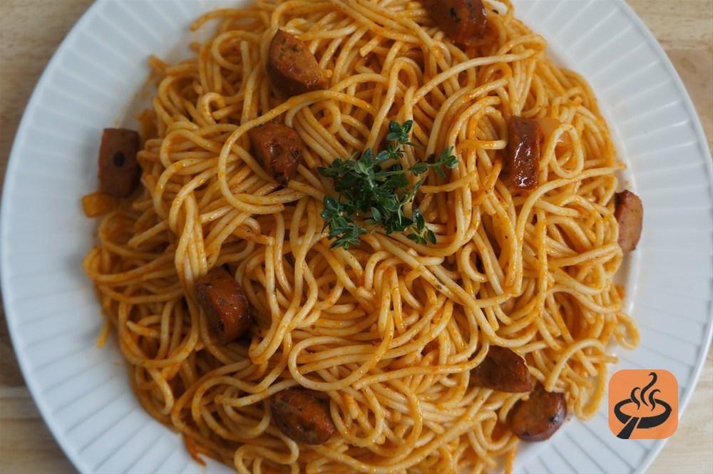 Spaghetti Saucisse Hot Dog