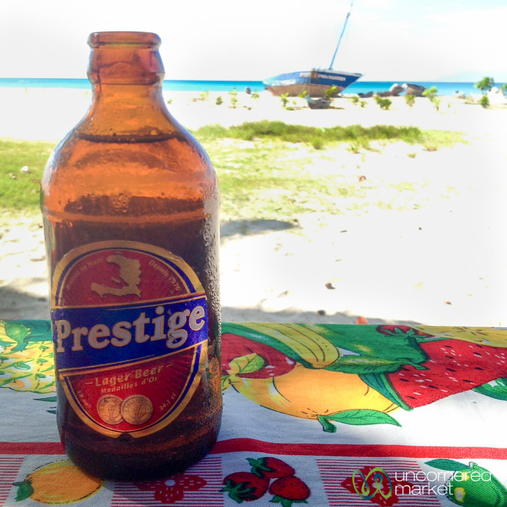 A cold Prestige on the beach. Pretty. Perfect.