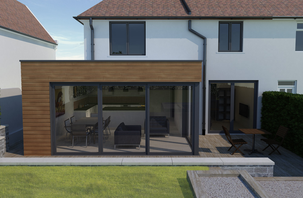 modern house extension sheffield