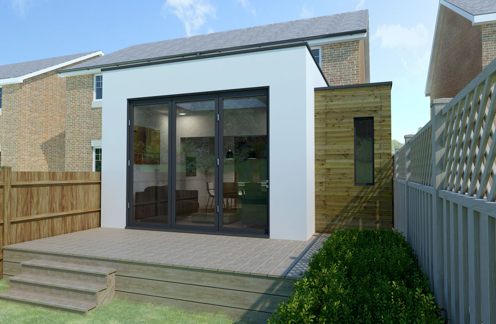 contemporary house extension..