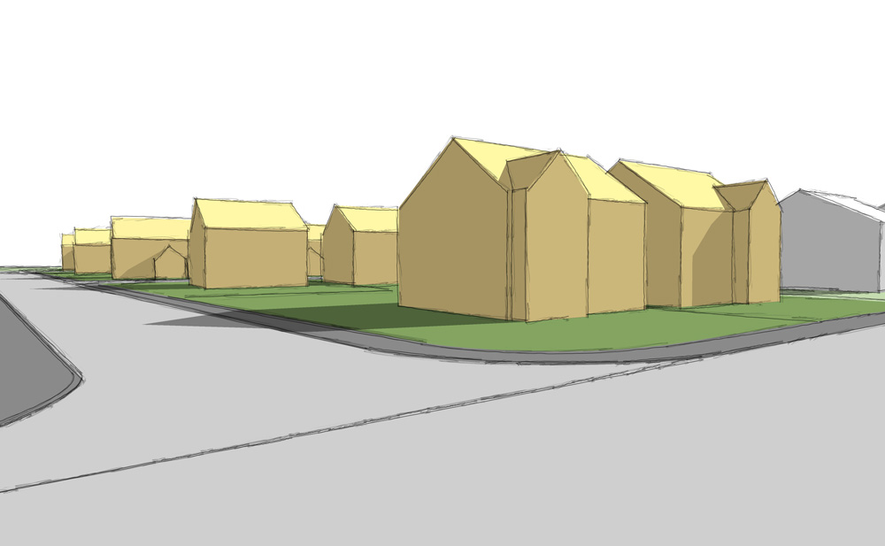 New build housing development..