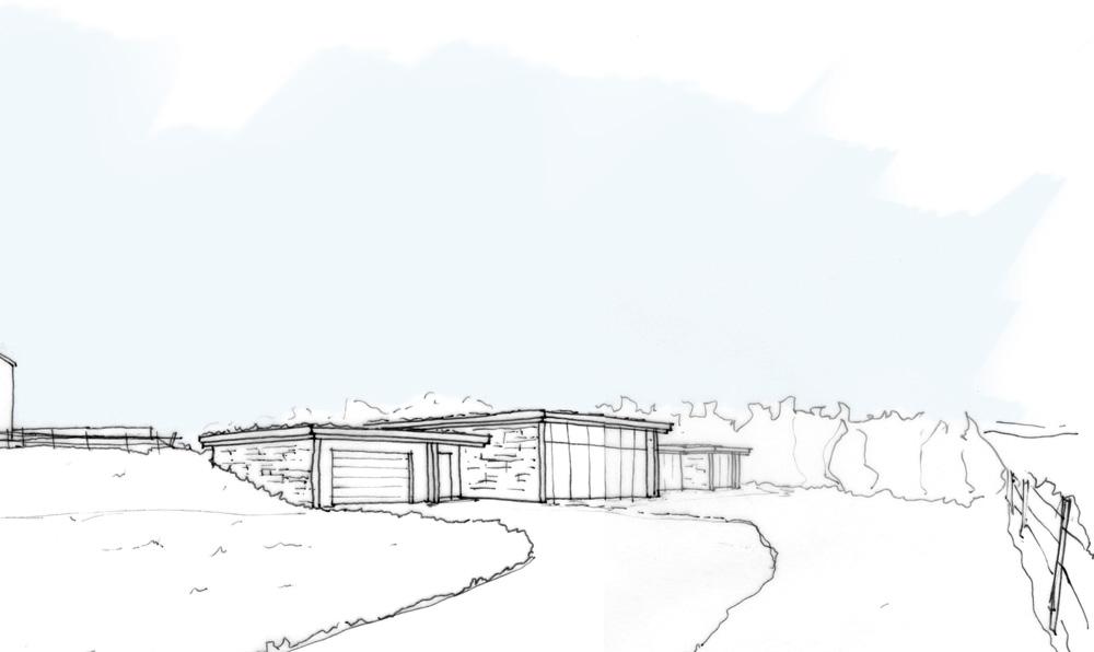 contemporary house sketch