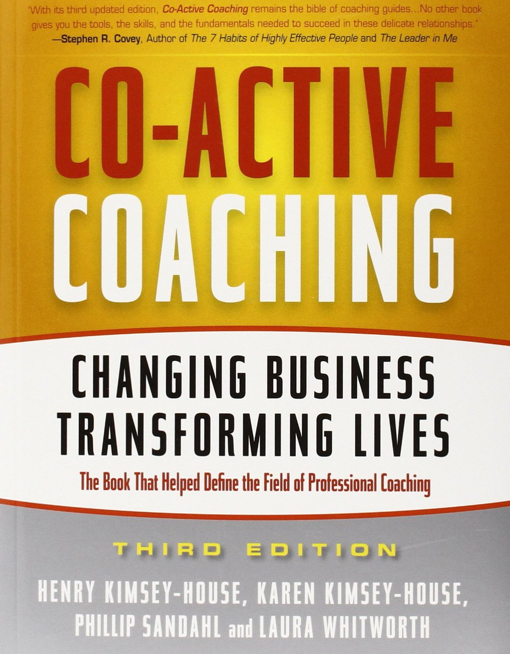 "<a href=""http://amzn.to/1J4MwJA"">Co-Active Coaching<strong>The discipline of coaching assumes wholeness, creativity, and the ability to solve problems. Learn how in this guide…</strong></a>"