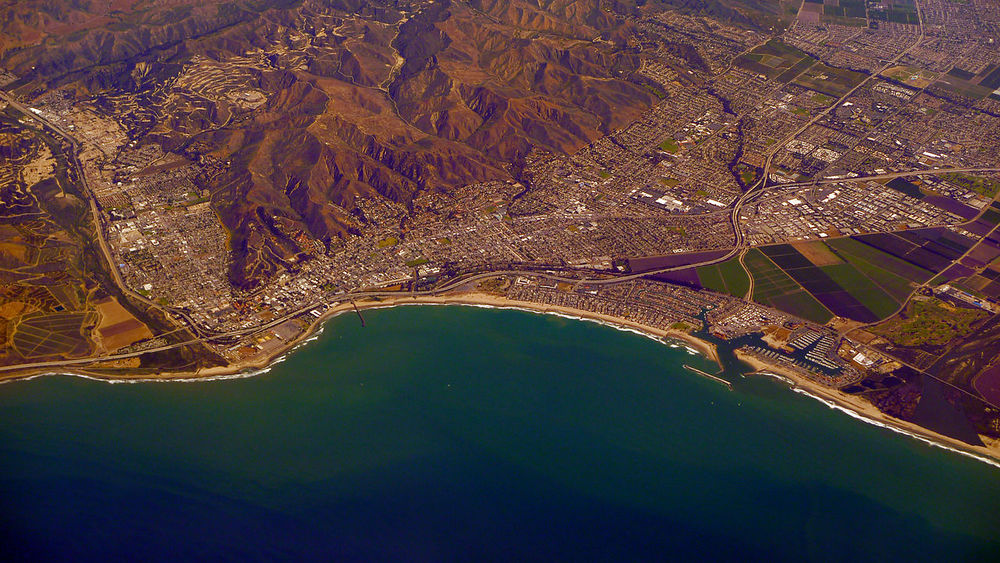 Ventura, California Ariel View By WPPilot - Own work, CC BY-SA 4.0, https://commons.wikimedia.org/w/index.php?curid=39254314