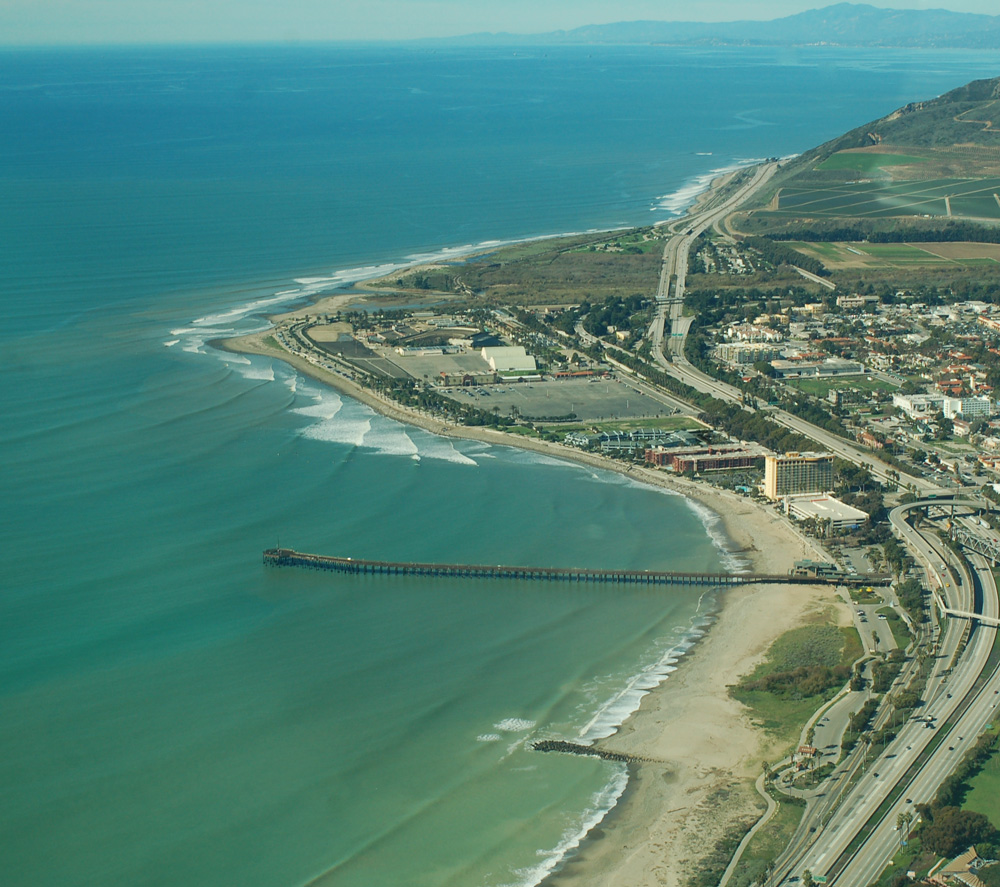 Ariel view of Ventura, California