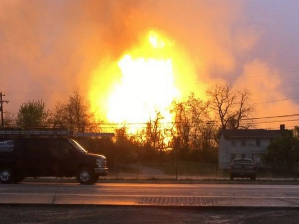 April 29, 2016 Natural Gas Explosion in Salem Township, Pennsylvania -- photo from ABC News
