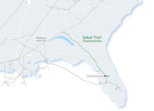 Proposed Map of Sabal Trail Pipeline via http://www.sabaltrailtransmission.com/