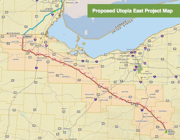 Utopia Pipeline Proposed Route  (Kinder Morgan)