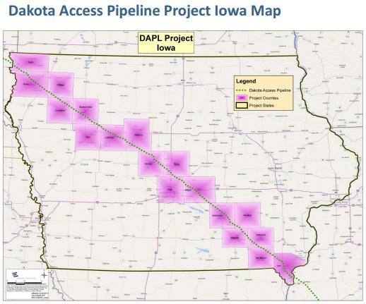 Iowa portion of Dakota Access pipeline ( DAPLPipelineFacts )