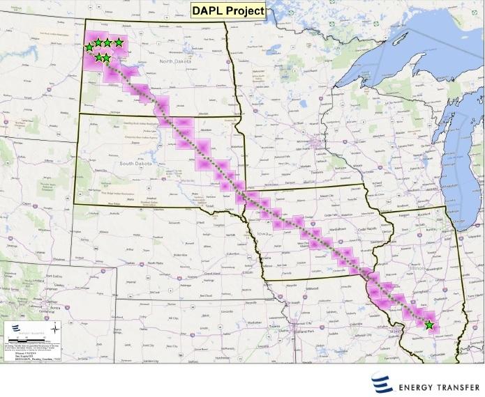 Dakota Access Pipeline Route ( Energy Transfer )