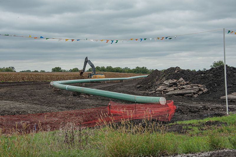 The controversial DAPL progressing across Southern Story and Northern Polk Counties in Central Iowa. Photo by Carl Wycoff from Nevada, USA (Dakota Access Pipe Line) [CC BY 2.0 (http://creativecommons.org/licenses/by/2.0)], via Wikimedia Commons