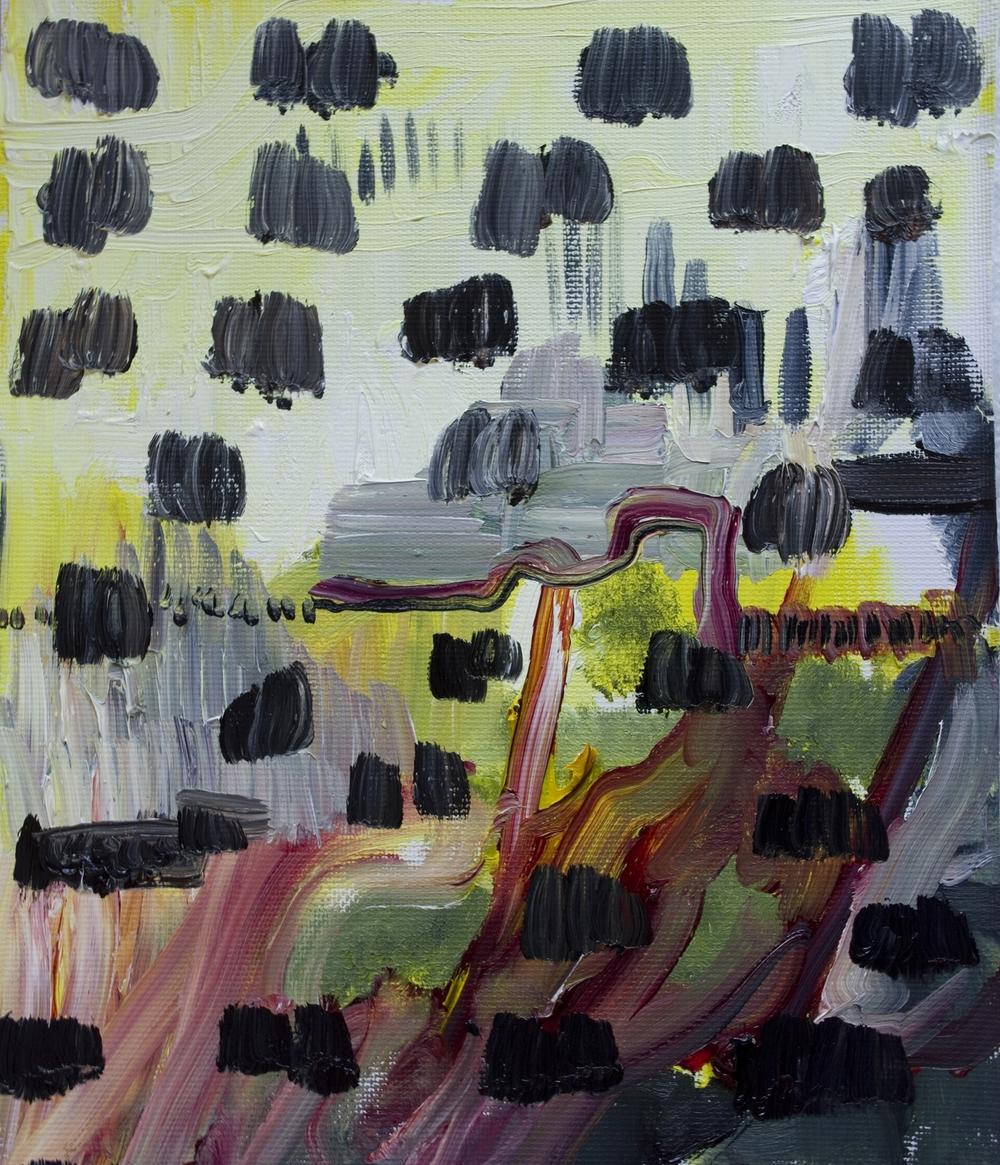 """The Greys, Oil on canvas, 9"""" x 7"""""""