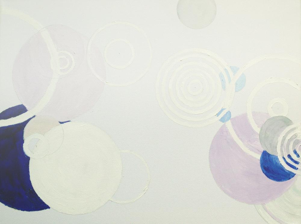 Procedural Painting V4.0.2, Oil on canvas, 46cm  x 36cm