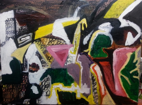 Piranesi's Frustrated Pier, Oil on canvas, 80 cm x 60 cm. (WIP)