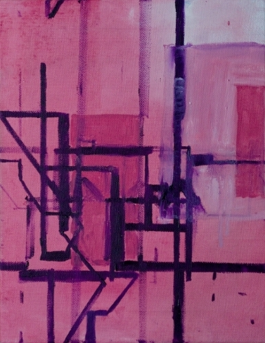 Procedural Painting V1.0.4, Oil on canvas, 36 cm x 28 cm